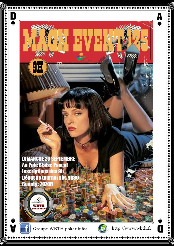 Affiche magn event 125 pulp fiction